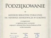 Podsumowanie Roku Henryka Sienkiewicza
