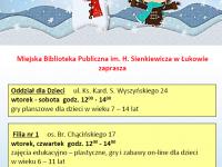 Ferie zimowe w bibliotece